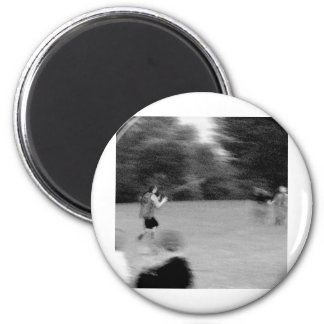 Football - B&W Sketch 6 Cm Round Magnet