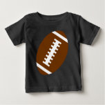 FOOTBALL BABY Black | Front Football Graphic T-shirt