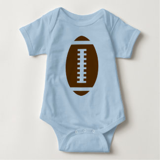 FOOTBALL BABY Blue | Front Football Graphic Baby Bodysuit