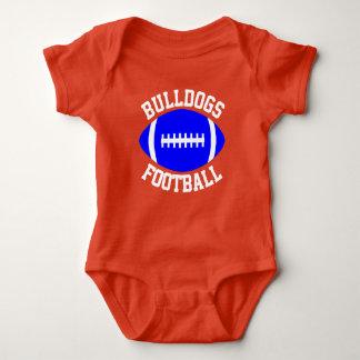 Football Baby Custom Team, Player, Color & Number Baby Bodysuit