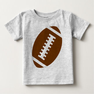 FOOTBALL BABY Gray | Front Football Graphic T Shirt