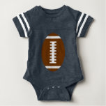FOOTBALL BABY Navy Blue | Front Football Graphic Shirt