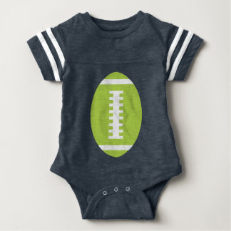 FOOTBALL BABY Navy | Front Lime Green Football Baby Bodysuit