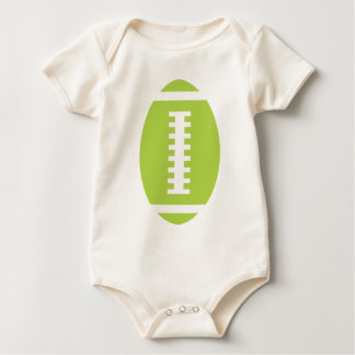 FOOTBALL BABY Organic | Front Lime Green Football Baby Bodysuit