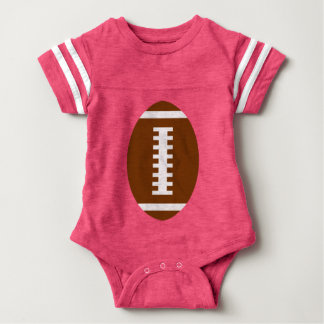 FOOTBALL BABY Pink | Front Football Graphic Baby Bodysuit