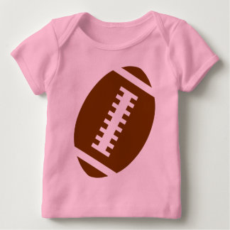 FOOTBALL BABY Pink   Front Football Graphic Infant T-Shirt