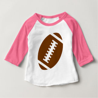 FOOTBALL BABY Pink   Front Football Graphic Tee Shirt