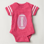 FOOTBALL BABY Pink   Front Pink Football Graphic Tees