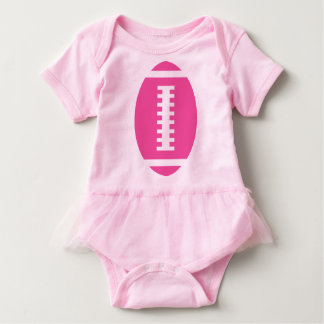 FOOTBALL BABY Pink Tutu   Front Pink Football Baby Bodysuit