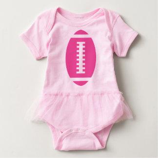 FOOTBALL BABY Pink Tutu | Front Pink Football T-shirts