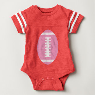 FOOTBALL BABY Red | Front Pink Football Graphic T-shirts