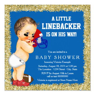 Football Baby Shower Card