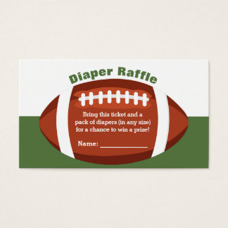 Football Baby Shower Diaper Raffle Ticket