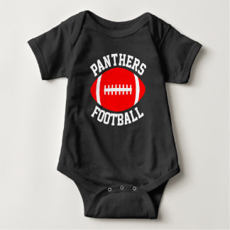 Football Baby Team Name, Player Name and Number Baby Bodysuit