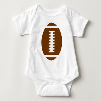 FOOTBALL BABY White | Front Football Graphic Baby Bodysuit