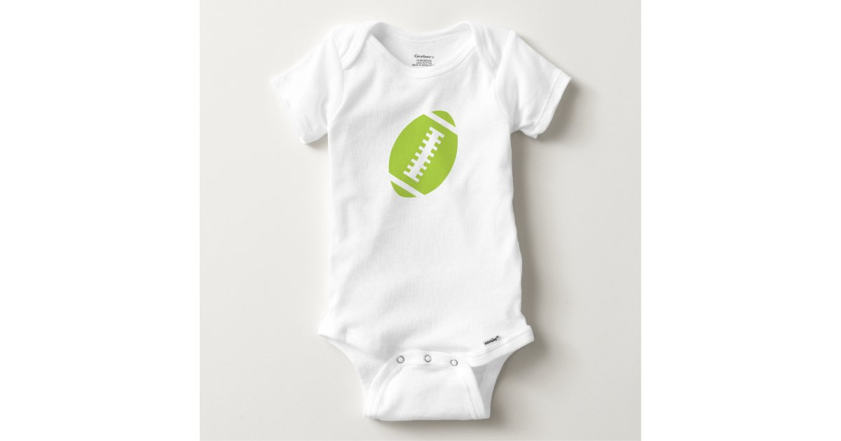 FOOTBALL BABY White | Front Lime Green Football Baby ...