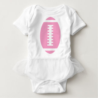 FOOTBALL BABY White Tutu | Front Pink Football Tees