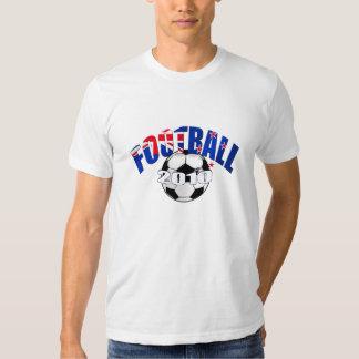Football ball New Zealand flag Logo Shirt