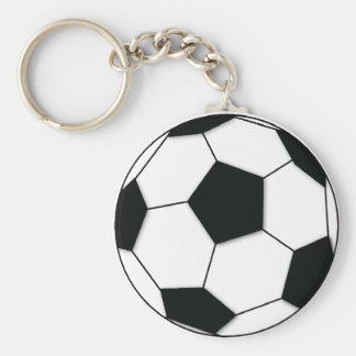 Football Basic Round Button Key Ring