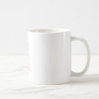Football Bear Redwork Basic White Mug