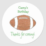 Football birthday favour label