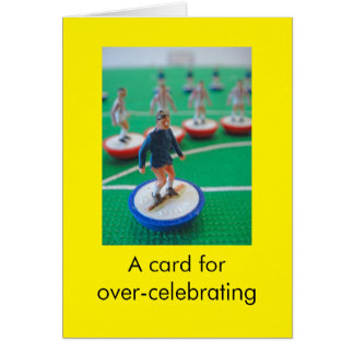 Football birthday greeting card