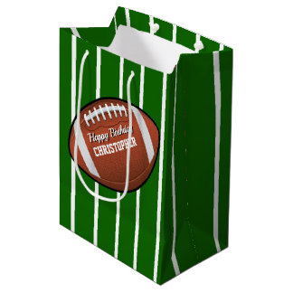 Football Birthday Medium Gift Bag