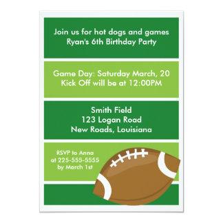 Football Birthday Party 13 Cm X 18 Cm Invitation Card