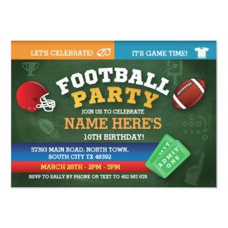 Football Birthday Party Invite sports Invitations
