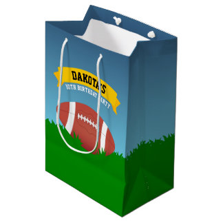 Football Birthday Party Medium Gift Bag