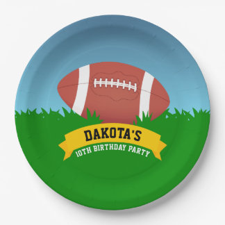 Football Birthday Party Paper Plate