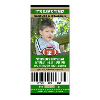 Football Birthday Photo Template 10 Cm X 24 Cm Invitation Card