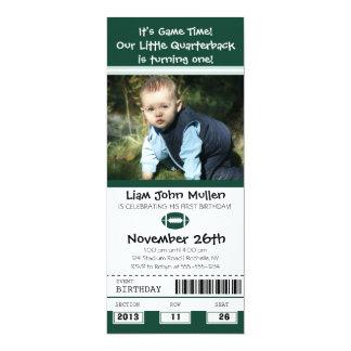 Football Birthday Ticket 10 Cm X 24 Cm Invitation Card