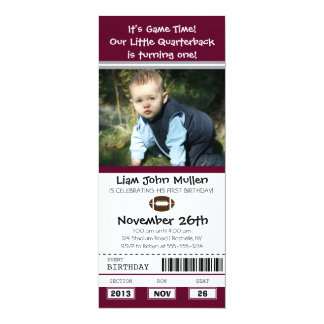 Football Birthday Ticket Card