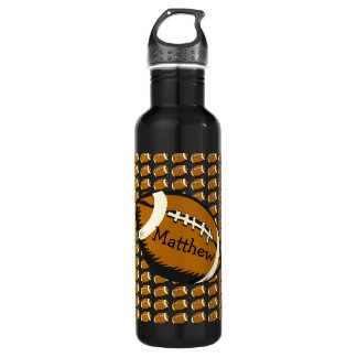 Football Black and Brown Sports Water Bottle 710 Ml Water Bottle