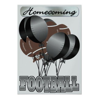 Football Black and Silver Homecoming Party Invitat 13 Cm X 18 Cm Invitation Card