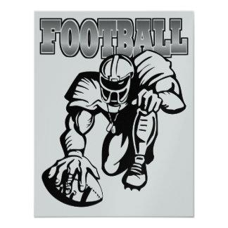 Football Black and Silver Invitation - SRF