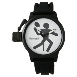 FOOTBALL | black and white icon Watch