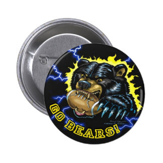 Football Black Bear button