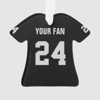 Football Black & Silver Jersey Ornament