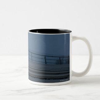 Football bleachers Two-Tone coffee mug