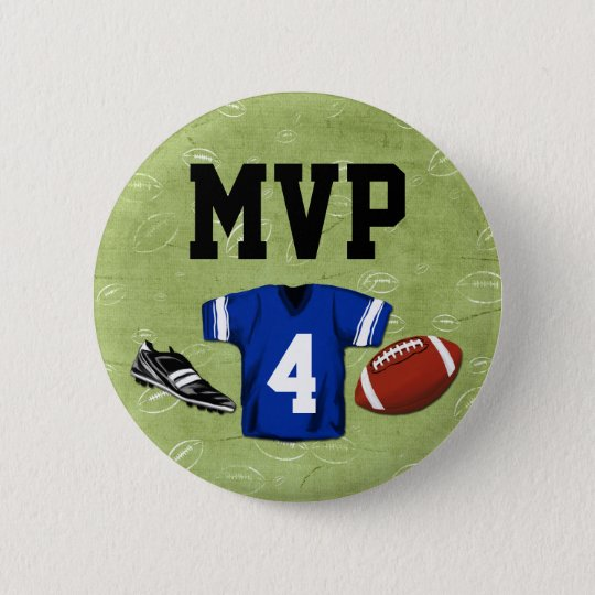 Football Blitz Kids' Birthday Party MVP 6 Cm Round Badge
