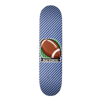 Football, Blue & White Stripes, Sports Skate Board