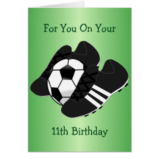 Football Boots 11th Birthday Card