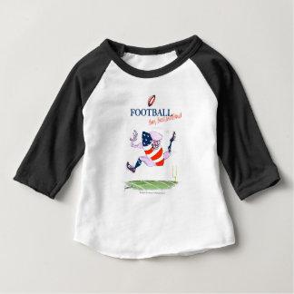 Football born bred proud, tony fernandes baby T-Shirt
