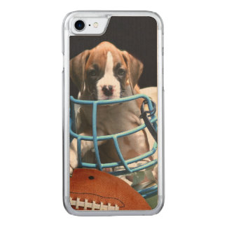 Football boxer puppy carved iPhone 8/7 case