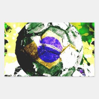 football Brazil Rectangular Sticker