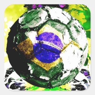 football Brazil Square Sticker