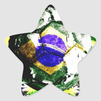 football Brazil Star Sticker