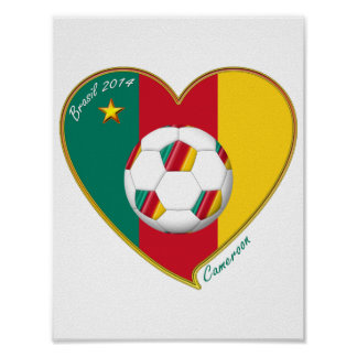 "Football ""CAMEROON"" Soccer Team Soccer of Cameroun Posters"
